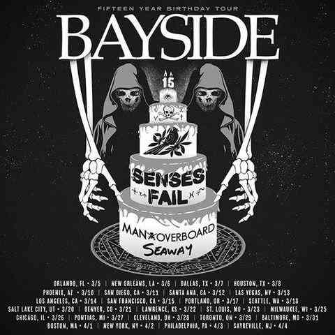 Bayside, Man Overboard, etc. tour
