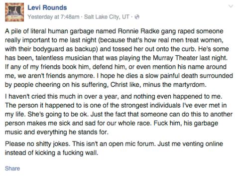 Ronnie Radke Accusation 1